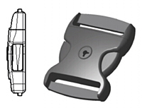 Key Lock Specialty Side Release Buckles - 2