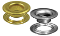 BRASS-NICKEL-GROMMET-WASHERS