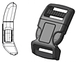Breakaway Contour Safety Buckles - 2